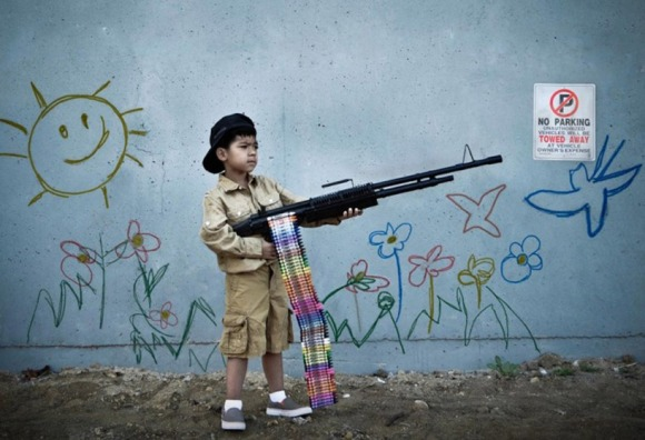 after banksy's 'child soldier'