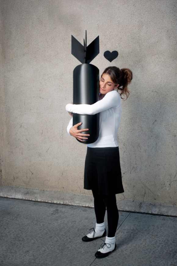 after banksy's 'girl holding bomb'