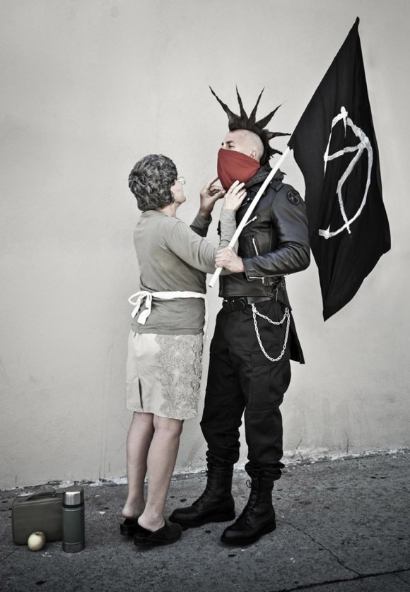after banksy's 'mother and son'
