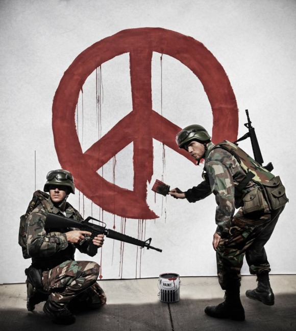 after banksy's 'peace'