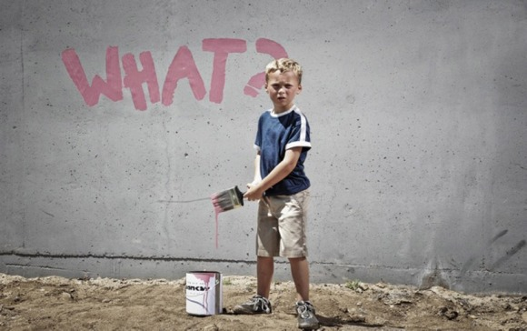 after banksy's 'what?'
